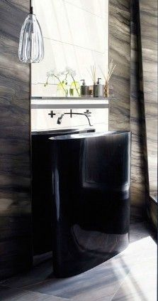 Yabu Pushelberg // sink powder room