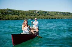 """#CanoeLove entry from Debbie Val. #redcanoe #proposal See the newest exhibition at The Canadian Canoe Museum: """"The story of paddling and romance. Can I canoe you up the river?"""""""