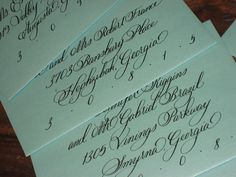 Hand Calligraphy Envelope Addressing, The D.C. Style
