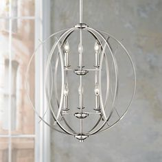 Breathe new life into your contemporary home decor with a fascinating pendant light. This six light pendant light features a shining brushed nickel finish
