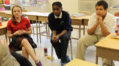 "Students at Risen Christ School in South Minneapolis participate in ""Imagine the Possibilities,"" a mentoring program designed by St. Kate's alumnae."