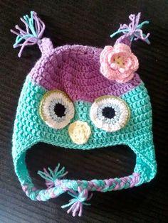 Owl Crochet hat  $18.00