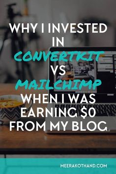 Thinking of turning your hobby blog into an online business? You need to consider a robust email marketing platform that will help you achieve your goals. Mailchilmp is free but doesn't have nearly half the features that convert kit does. Read this post o