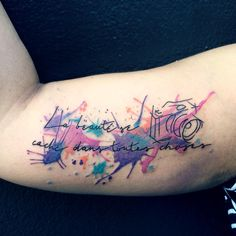 Watercolour arm tattoo. Photograpy lovers. by Ana Maturana