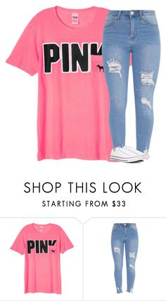 """""""Untitled #3423"""" by laurenatria11 ❤ liked on Polyvore featuring Victoria's Secret and Converse"""