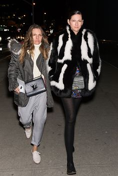Fashion designer Jenna Lyons and Courtney Crangi are seen outside the Altuzarra Fall 2016 fashion show during New York Fashion Week at Spring Studios...