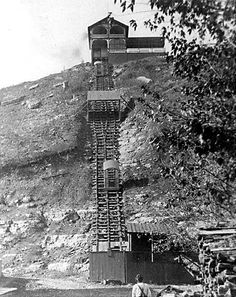 Original Fenelon Place Elevator (click through for full history).  It is the steepest and shortest funicular railway in the world.