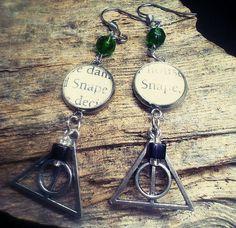 Harry Potter Snape Deathly Hallow Earrings by HouseOfSakiari