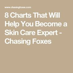 8 Charts That Will Help You Become a Skin Care Expert - Chasing Foxes
