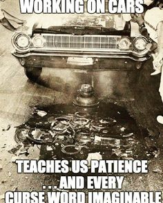 What are some interesting one you've heard? Let's see the list. - #cursewords #verbs #nassaucounty #mechanics #mechaniclife #mechanic #bodyshop #pissedoff #damnit #cars #carlife #diy #workingoncars #funnyshit #fail #epicfail #lovehaterelationship by laithatwurth