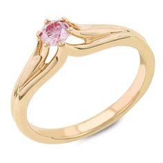 Solitaire Vivid Pink, Created Diamond Ring, Six Prong Shank, 14Kt P/G, 0.22 TCWT	by Gemesis - See more at: http://blackdiamondgemstone.com/colored-diamonds/jewelry/wedding-anniversary/engagement-rings/solitaire-vivid-pink-created-diamond-ring-six-prong-shank-14kt-pg-022-tcwt-com/#sthash.RvGKsMdu.dpuf