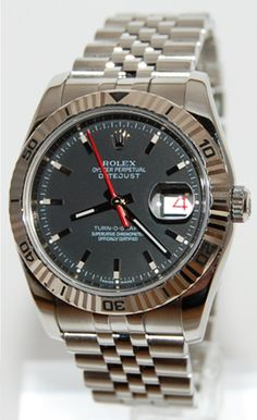 #Rolex #Oyster_Perpetual #Datejust #Turn_O_Graph 116264 with black dial #swisswatchdealers