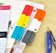 Easy Rainbow Dry-Erase Index Clip Set