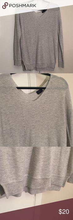 Le Tote Sweater Grey sweater from Le Tote. Perfect condition. No trades. Fate Sweaters V-Necks