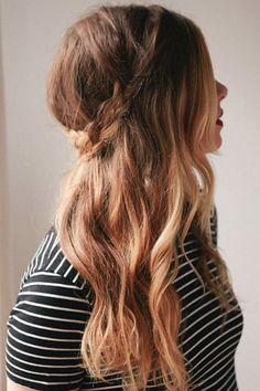 A crown braid is the perfect way to style your messy hair in the morning.