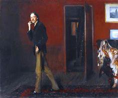 John Singer Sargent - Robert Louis Stevenson and His Wife – 1885