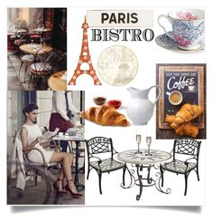"""""""Parisian Bistro"""" by anchilly23 ❤ liked on Polyvore featuring interior, interiors, interior design, home, home decor, interior decorating, Pier 1 Imports, Rosanna, Riedel and Dot & Bo"""