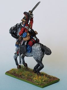 1st Lifeguard Trooper rear painted from Tobias Kirchner (Perry Miniatures)