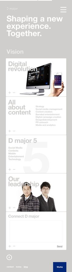 d major responsive website on Behance