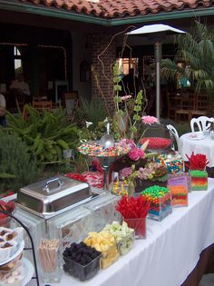 Your catering menu choices for Quinceaneras at the Brownstone Cafe Party Dishes, Party Desserts, Wedding Desserts, Dessert Buffet, Candy Buffet, Dessert Bars, Catering Menu, Festa Party, Love Eat
