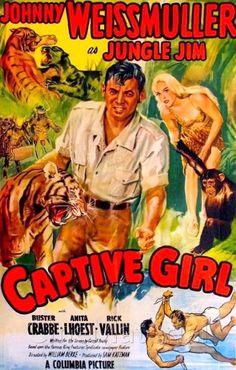 Captive Girl (1950) Stars: Johnny Weissmuller, Buster Crabbe, Anita Lhoest, Rick Vallin, John Dehner ~ Director: William Berke