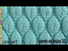 Learning new crochet stitches is always a fun way to get inspired to create new crochet patterns. The crochet stitch I'm showing you today is very beautiful. Crochet Leaf Patterns, Crochet Leaves, Crochet Motif, Crochet Designs, Easy Crochet, Crochet Flowers, Stitch Patterns, Knitting Patterns, Crochet Shawl Diagram