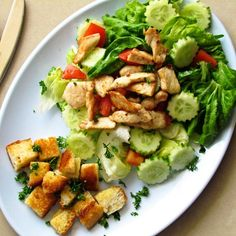 Chicken Recipe : Garlic Chicken SaladTes at Home