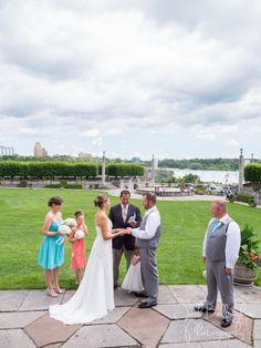 Wedding Ceremony at Niagara Falls. Niagara Parks Weddings @niagaraparkswed has the most beautiful wedding venues. Oakes Garden Theatre overlooks Niagara Falls for the perfect destination wedding ceremony. #JoshBellinghamPhotography