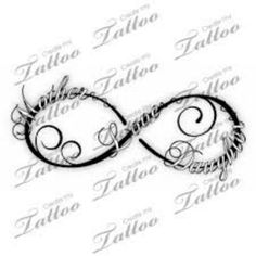 I like this idea for a tattoo with my 3 kids names....