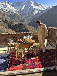 Aussergewöhnliche Hotels: Kasbah du Toubkal, Teezeit