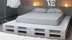 Especial paletes em madeira - base para cama