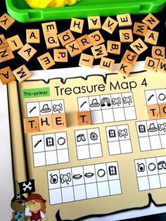FREE Dolch Pre-primer Sight Word Activity: Pirate Initial Sound Secret Code Hunt - Sea of Knowledge