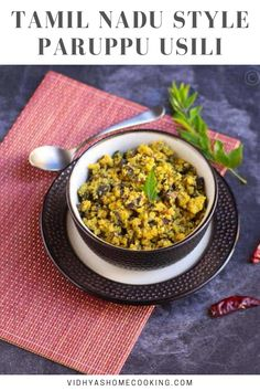 Vazhaipoo Paruppu Usili - A delicious dry-curry or poriyal with steamed and crumbled lentils and banana flower. An authentic dish from Tamil Nadu. #curry #poriyal #lentils #vegetarian #healthy | vidhyashomecooking.com @srividhyam Amazing Vegetarian Recipes, Delicious Vegan Recipes, Delicious Dishes, Vegetarian Appetizers, Vegetarian Dinners, How To Cook Plantains, Cooking Bananas, Banana Flower, Indian Food Recipes
