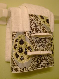 Clearance Bath Towel and wash cloth set  Ready to Ship by avecdieu, $21.00