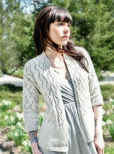 Another simple but lovely lace pattern from Chic Knits.  Vonica.  Clever construction too.