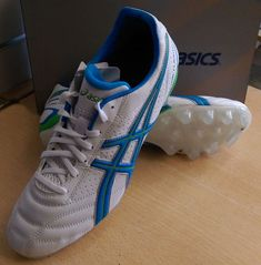 c6c8ca3fcfa7a1 Details about New Asics Lethal Flash D2 IT Mould stud Rugby boots UK sz 9  Wht Blue Rave Green