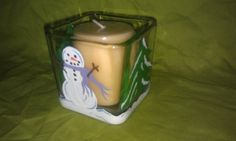 Snowman Candle Holder by aSideofCreativity on Etsy, $10.00