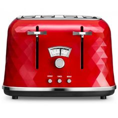 Buy De'Longhi Brillante 4 Slice Toaster - Red at Argos. Red 4 Slice Toaster, Kettle And Toaster Set, Toaster Ovens, Red Appliances, Small Kitchen Appliances, Kitchenaid, Cool Kitchen Gadgets, Cool Kitchens, Toast