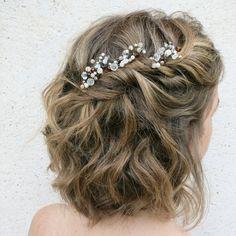 Peinados pelo corto, vestidos de novia