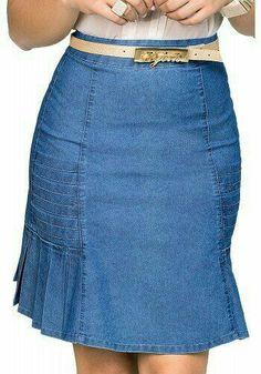 Demin Dress, Denim Skirt Outfits, Denim Outfit, Dress Skirt, Modest Fashion, Women's Fashion Dresses, Artisanats Denim, Skirt Patterns Sewing, Jeans Rock