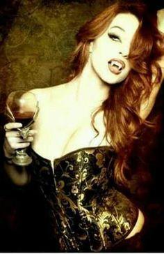 Red-haired vampiress