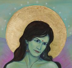 April 2010 - Tara II  Acryl und Blattgold auf Leinwand 90 x 160 cm, detail