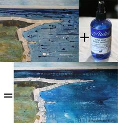 http://painting.about.com/od/acrylicpainting/ss/mark-making-spray.htm