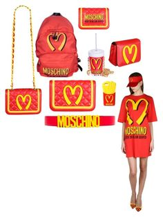 """""""Moschino McDonald"""" by dreamkm ❤ liked on Polyvore featuring Moschino, McDonald and Katieee3"""