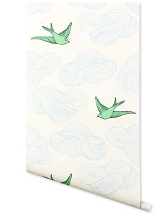 Daydream (Green) – Hygge & West | Designed by Julia Rothman in Brooklyn and screen printed in Chicago  | classic screen printing technique creates luxe, modern wallpapers that feel hand painted.