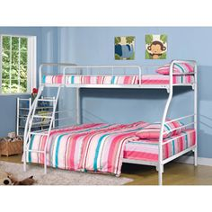 Serta Twin over Full Bunk Bed, White