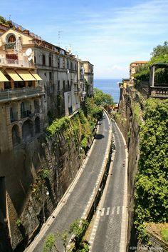 Via Luigi de Maio, Sorrento - Italy.  The road to Marina Piccola, which means small marina