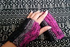 Cozy Crochet Gloves - fingerless gloves - handmade - clubninjah - etsy