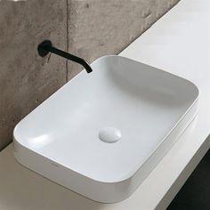 Elegance Soft 2 Retangulær Håndvask til placering på bordplade