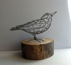 Nuthatch Bird Wire Sculpture By Sparkflight On Etsy